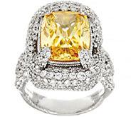 Judith Ripka Sterling Yellow Diamonique Ring 16.05 cttw - J331752