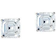 Diamonique 2.00 ct tw Asscher Cut Stud Earrings Platinum Clad - J332752