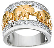 TOVA for Diamonique Elephant Ring, Sterling - J333652