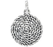 As Is JAI Sterling Silver Hill Tribe Textured Enhancer - J333852
