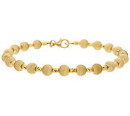 Arte dOro Average Satin Finish Bead Bracelet 18K, 6.3g - J334952