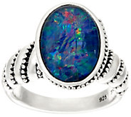 As Is JAI Sterling Andaman Sea Opal Triplet Ring - J346652