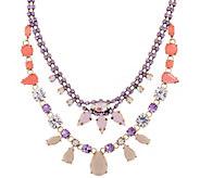 LOGO Links by Lori Goldstein Extravagant Crown Bib Necklace - J346952