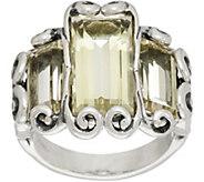 Carolyn Pollack Baguette Quartz Sterling Silver Ring 5.50cttw - J348852