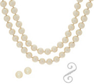 Carolee Downtown Drama 70 Simulated Pearl Rope Necklace Set - J351052