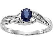 14K White Gold Sapphire & Diamond Ring - J376952