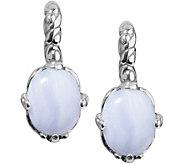 Carolyn Pollack Sterling Oval Gemstone Earrings - J378352
