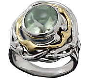Hagit 14K Sterling 4.50 cttw Oval Green Amethyst Ring - J380952