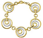 Italian Gold 7-1/2 Two-Tone Nesting Link Bracelet 14K, 7.6g - J382052
