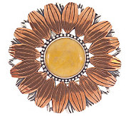 Carolyn Pollack Sterling Copper Sunflower Pin/Pendant - J57552