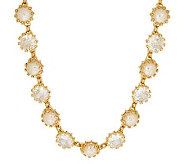 Isaac Mizrahi Live! Dazzling Facets Simulated Pearl Necklace - J261853
