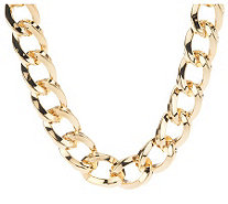 "Kenneth Jay Lane's 17"" Twisted Link Necklace - J274953"