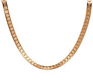 As Is Bronzo Italia 18 Diamond Cut Riccio Necklace - J283753