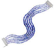 85.00 ct tw Tanzanite Sterling 7-1/4 Bracelet - J289053