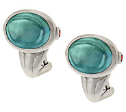 TOVA Diamonique Simulated Aquamarine Earrings, Sterling - J289853