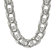 Sterling Bold Woven 18 Necklace, 47.50g - J290353