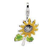 Amore La Vita Sterling Dimensional SunflowerCharm - J299953
