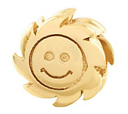 Prerogatives 14K Yellow Gold-Plated Sterling Smiling Sun Bead - J302853