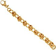 Bronze Bold Polished Status Link Bracelet by Bronzo Italia - J318753