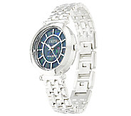 Ecclissi Facets Stainless Steel Opal Dial Polished Watch - J319253