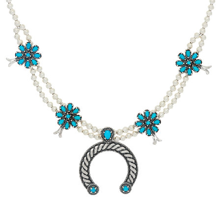 Sleeping Beauty Turquoise Sterling Necklace by American West