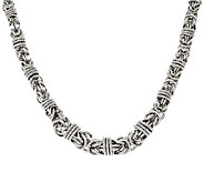 Bronze 24 Graduated Byzantine Necklace by Bronzo Italia - J323953