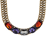 LOGO Links by Lori Goldstein 19 Stone Collar Necklace - J324153