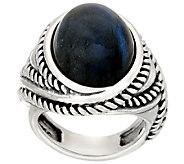 Carolyn Pollack Sterling Silver Oval Labradorite Bold Ring - J326053