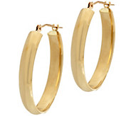 18K Gold 7/8 Polished Oval Hoop Earrings - J328653