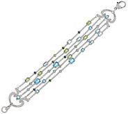 Judith Ripka Sterling 7-1/2 6.70 cttw Gemstone Multi Strand Bracelet - J328853