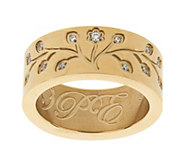 As Is Stainless Steel Family Tree Engraved Ring - J330353