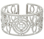 Judith Ripka Sterling Multi Circle 3.80 cttw Diamonique Cuff Bracelet - J331153