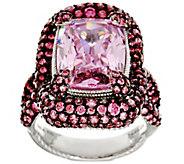Judith Ripka Sterling Pink Diamonique Ring 16.05 cttw - J331753