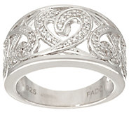 Fado Sterling Silver Celtic Hearts Band Ring - J334253