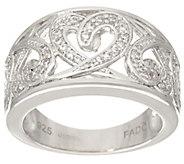 Fado Sterling Silver Celtic Hearts Band Ring - J334253