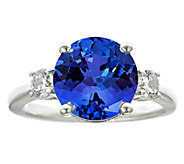 Premier 4.25ct Tanzanite & 3/10cttw Diamond Ring, 14K - J336253
