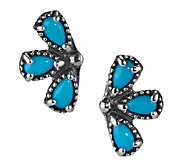 Sleeping Beauty Turquoise EarClimber Earrings by American West - J340053