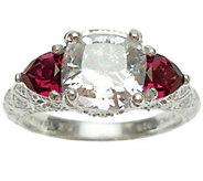 Judith Ripka Sterling Diamonique & Simulated Gemstone Ring - J340653