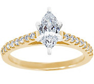 Diamond Pave Cathedral Ring, 14K Gold 1/2 cttw,by Affinity - J341453