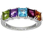 Judith Ripka Sterling Silver 2.90 cttw Multi Gemstone Ring - J348053