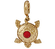 Red Coral Turtle Reversible Charm by American West - J349153