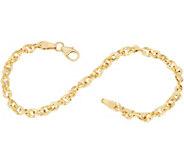 Italian Gold 8 French Rope Bracelet 14K Gold, 2.4g - J349353