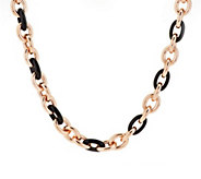 As Is Bronze 20 Gemstone Rolo Link Necklace by Bronzo Italia - J350353