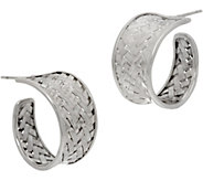 EXEX by Claudia Agudelo Sterling Silver Woven Tapered Hoop Earrings - J350853