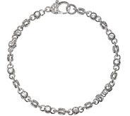 Judith Ripka Sterling & Diamonique Rolling 6-3/4 Bracelet - J374953