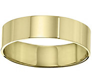 Mens 14K Yellow Gold 6mm Flat Comfort Fit Wedding Band - J375253