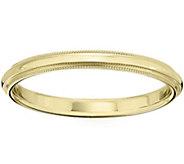 Womens 14K Yellow Gold 2.5mm Milgrain WeddingBand - J375553