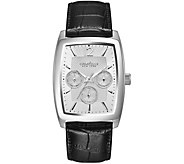 Caravelle New York Mens Leather Strap Multi-Function Watch - J375953