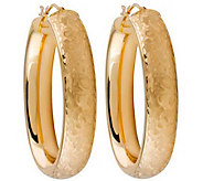 Arte dOro Arabesque Oval Hoop Earrings, 18K Gold - J110354