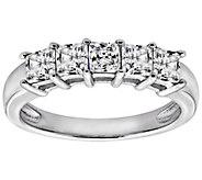 Diamonique 1.00 cttw Princess Cut Ring, Platinum Clad - J111654